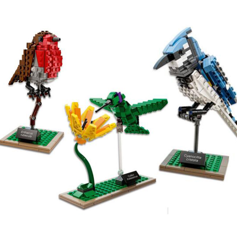 LEPIN 36009 IDEAS Series Birds Window Sill Decoration Blue Jay Hummingbird Model Building Block  Bricks Toys Gift For Children 3d model relief for cnc in stl file format animals and birds 2