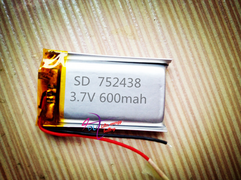 tablet battery Polymer 752438 medical devices can be security door bell emergency lamp Bluetooth lithium battery factory direct