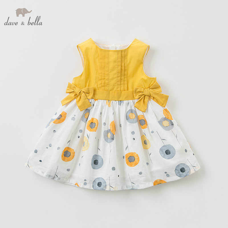 DBM10561 DAVE BELLA summer baby girl princess clothes children birthday party wedding dress with bows boutique dandelion dresses