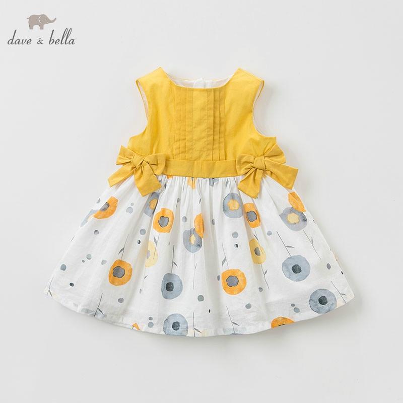 DAVE BELLA/DBM10561 летняя одежда для девочек, платье принцессы для детей, день рождения, свадьба, платья с бантами, платья из бутика с однухами|Платья| | АлиЭкспресс