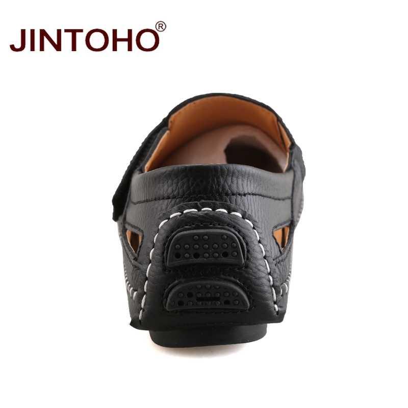 JINTOHO ขนาดใหญ่ผู้ชาย Loafers รองเท้าหนังแท้รองเท้าแฟชั่นผู้ชายรองเท้าผู้ชายรองเท้าหนังลำลองรองเท้าหนังผู้ชาย