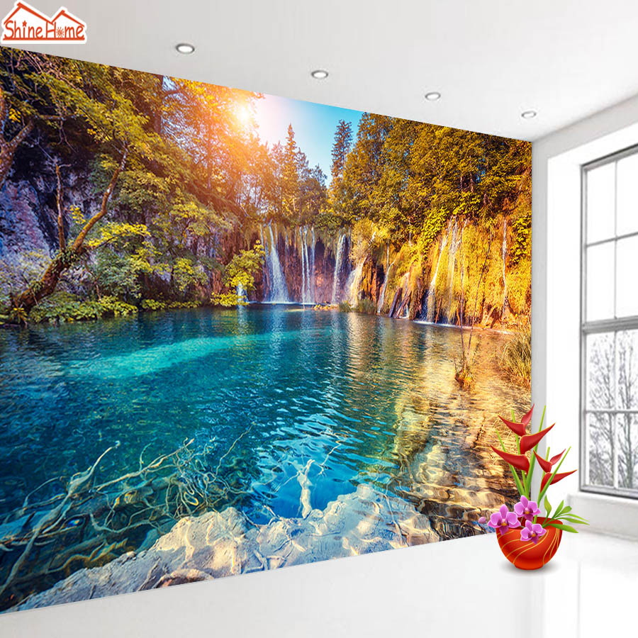 Wallpapers 3 D Murals Photo Wallpaper For Walls In Rolls 3d On Wall Papers Home Decor Living Room Bedroom Forest Landscape Mural