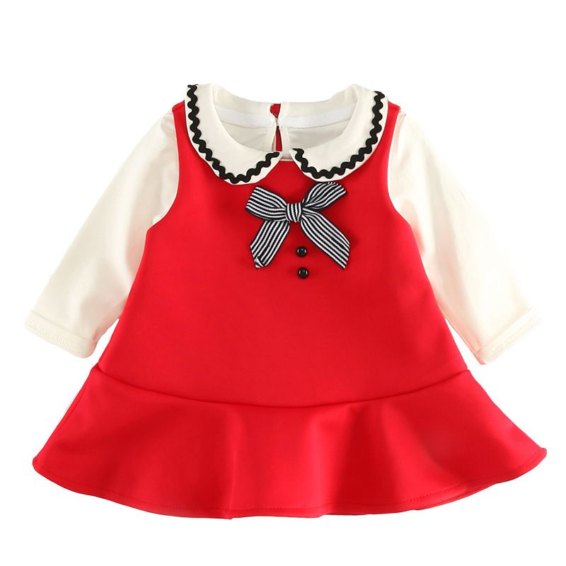 2018 New Fashion Baby Girls Clothes Spring Bebes 2pcs Clothing Set Red Color Sleeveless Vest Dress + White T-shirt Kids Clothes flower sleeveless vest t shirt tops vest shorts pants outfit girl clothes set 2pcs baby children girls kids clothing bow knot