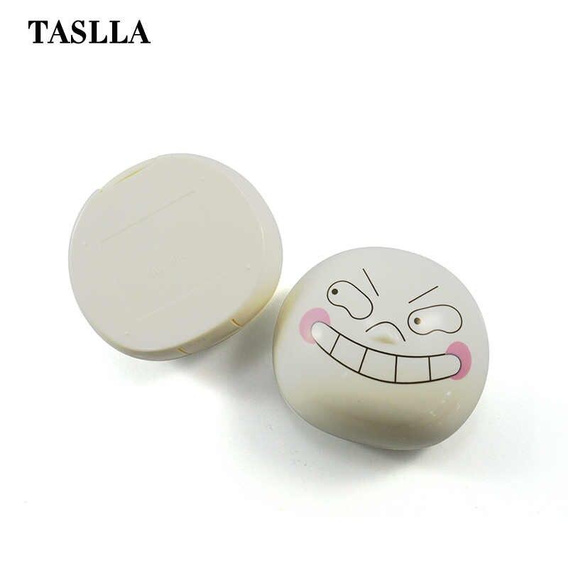 TASLLA белый овальный контактные линзы пластиковый корпус симпатичный футляр для очков очки аксессуары с зеркалом мини контейнер для контактных линз JD8010