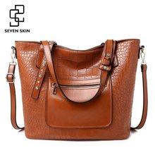 52523d95c406 Семь кожи роскошные дизайнерские женские сумки-мессенджеры высокого  качества кожаная сумка на плечо для женщин