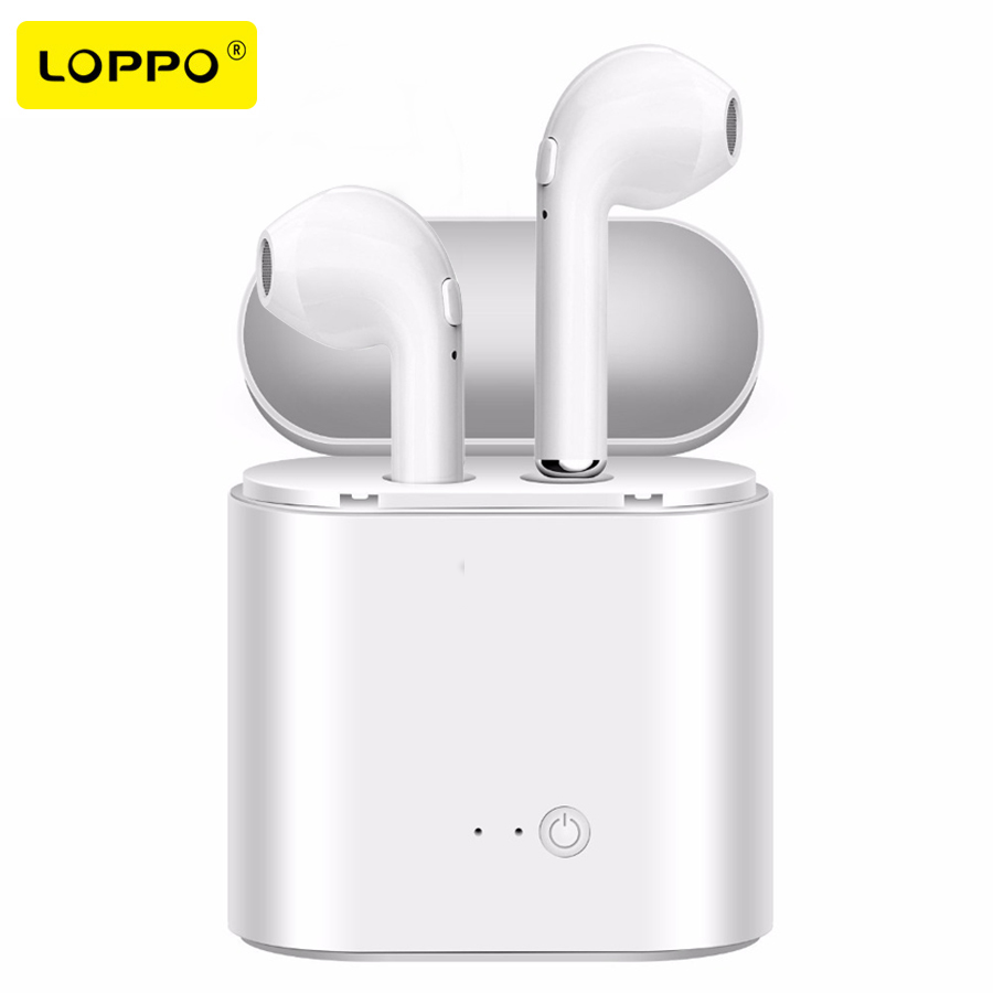 Loppo TWS Wireless Bluetooth earphone mini Double ear stereo earphones Noise Cancelling earbuds For Apple Iphone Android phone