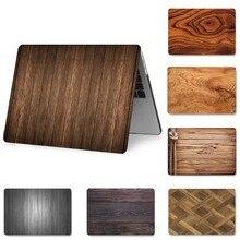 패션 우드 MacBook Retina Pro Air 13 15 12 인치 하드 충격 방지 케이스 A1990 A1706 A1398 PVC 커버 용 노트북 케이스