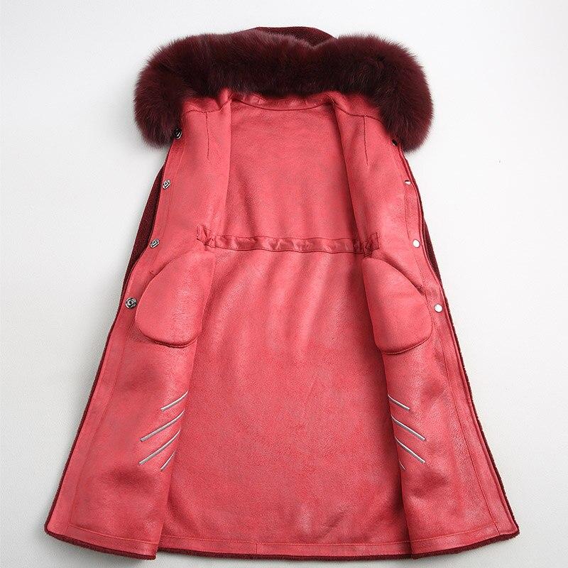 À black De Réel Renard 2018 Coréenne Fourrure Automne Wine Red Vintage Femmes Capuchon Manteau Zt928 Femme Hiver Laine Veste Vêtements 100 p8RqAA