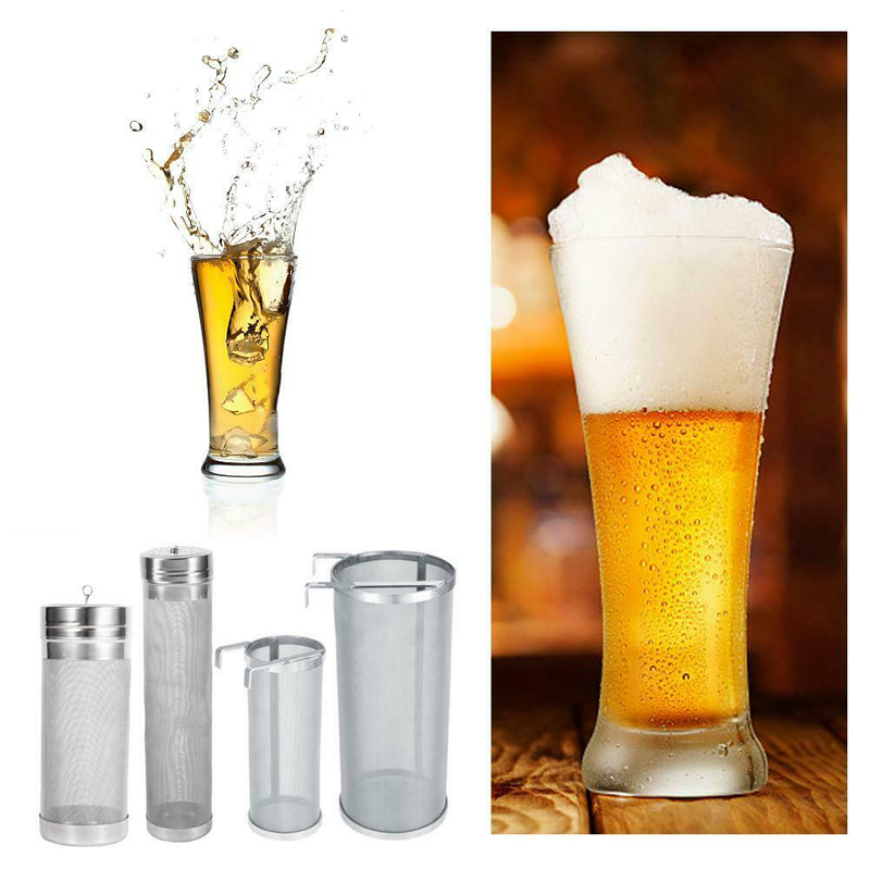 300 Micron Stainless Steel Hop Spider Mesh Beer Filter Homemade Brewing Home Coffee Hopper Home Brew 4 Sizes