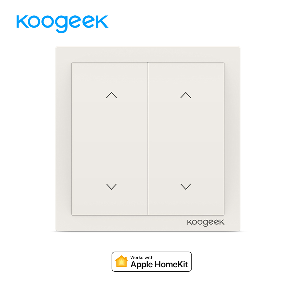 Koogeek 2 כנופיית WiFi אור מתג אלחוטי Siri מתגי אור שלט רחוק חכם בית עבור Apple HomeKit Alexa גוגל עוזר