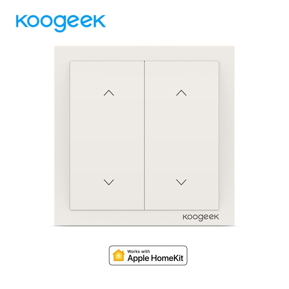 все цены на Koogeek 2 Gang WiFi Light Switch Wireless Siri Remote Control Light Switches Smart Home for Apple HomeKit Alexa Google Assistant