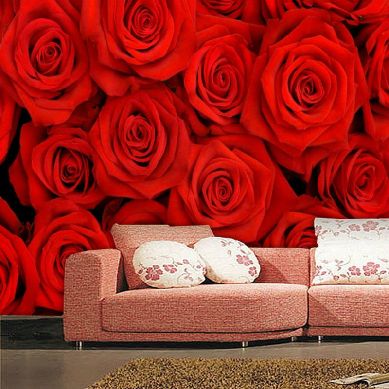 Good Online Shop Large 3d Wallpaper Photo Murals For Living Room In Wallpapers  Flower Mural Rose Bedrooms Waterproof Wall Paper Red Home Decor |  Aliexpress ... Part 16
