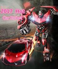 Цзя Ци tt667 электрический пульт дистанционного управления автомобиля Star одним из ключевых деформация автомобиль робот игрушка с прохладной голоса и свет VS ws21215 робот