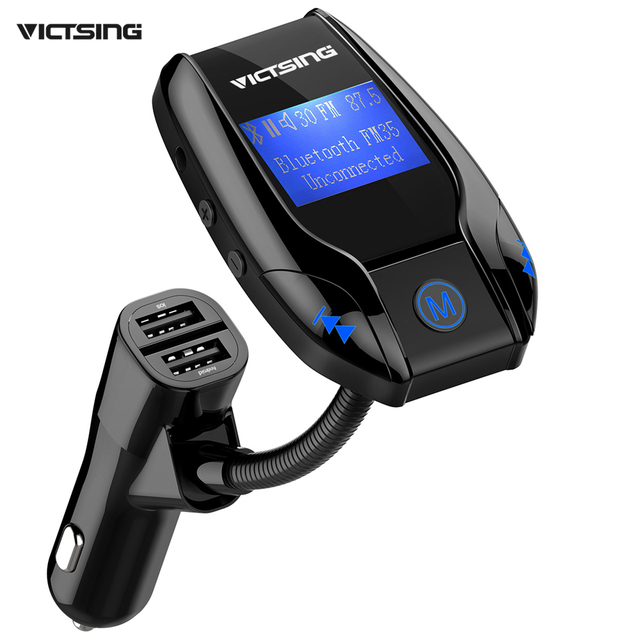 US $29 56 |2017 Victsing Bluetooth FM Transmitter Wireless In Car Music  Adapter 3 USB Ports Car Charger MP3 Player Supports Aux/TF/U disk-in