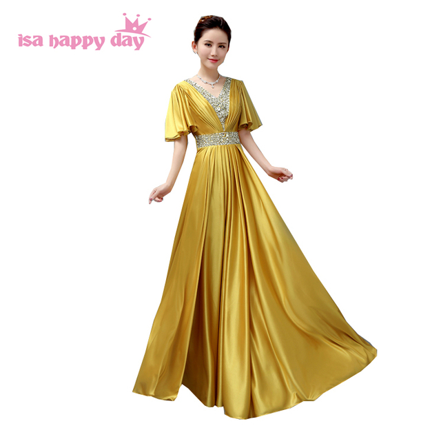 daa7a98cbc4 robe soiree sexy plus size gold red long floor beaded gown v neck top prom  dresses formal dress size 18 under 100 H3941