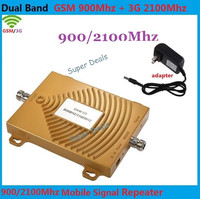 New Mini 2G GSM 900Mhz 3G W CDMA 2100MHz Dual Band Mobile Phone Signal Booster 2G