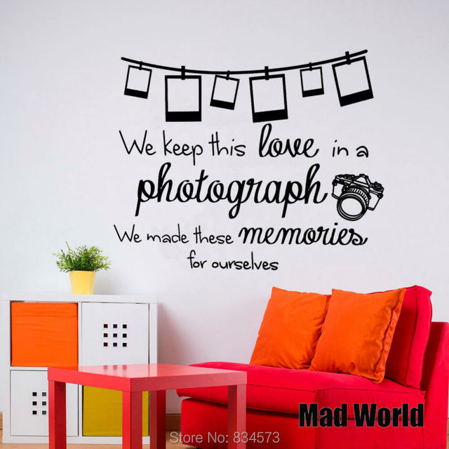 Mad World We Keep This Love In A Photograph Lyrics Wall Art Sticker Wall  Decal