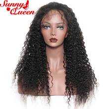 250% Density Lace Front Human Hair Wigs For Black Women Brazilian Curly Wig With Baby Hair Remy Nature Color Sunny Queen