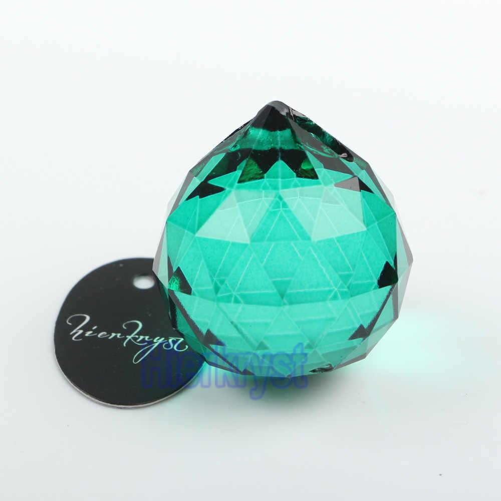 Hierkyst 20mm lỗ Green bóng pha lê SUNCATCHER PRISMS mặt dây chuyền cho đèn chùm PHỤ ĐÈN cầu vồng treo giọt 1 pc #2048-8