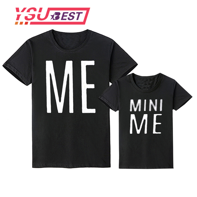 dd245389 Family Matching Clothes Shirts Dad Mom Baby Clothes Short Sleeve T-shirt  Letter MINI ME Family Look Daddy Mommy and Me Clothes