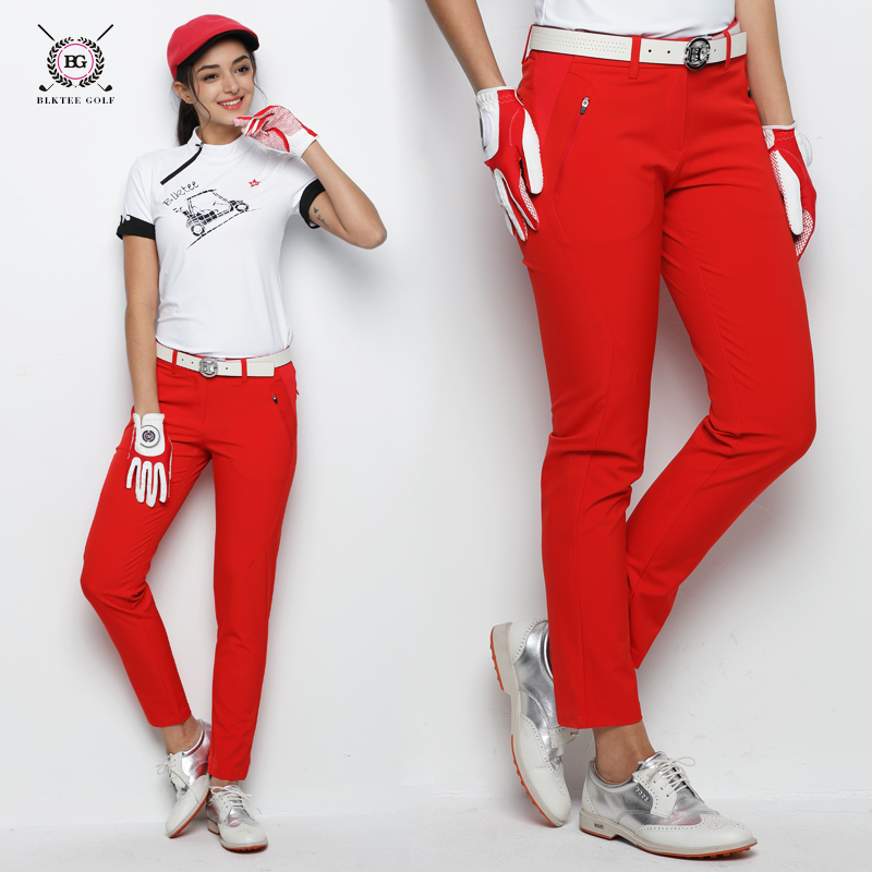 Brand golf pants women sports summer golf trousers spring summer top cool fabric lady golf match apparel breathable