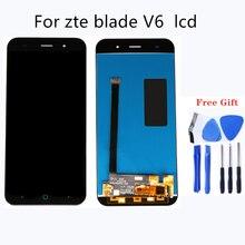 مناسبة ل ZTE V6 تجميعها LCD شاشة اللوحي اللمس شاشة الهاتف المحمول شاشات الكريستال السائل الهاتف المحمول اكسسوارات 100% اختبار العمل