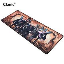 Clanic 80*30cm Japan anime mouse pad ONE PIECE Monkey D. Luffy Roronoa Zoro Nami