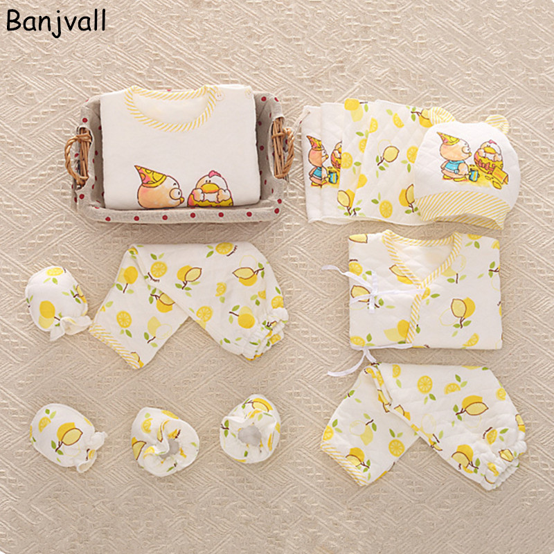 2017 Newborn Baby clothing Set Infant Underwear Suits 100% Cotton Character Gift Set For 0-1 Year Toddler 16 pieces set newborn baby clothing set underwear suits 100% cotton infant gift set full month baby sets for spring