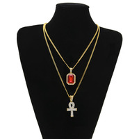 New Year S Gift New Beautiful Hip Hop Color Stone Pendants With Zircon Key Mini Square