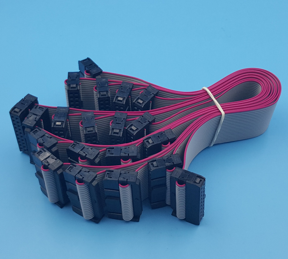 Free Shipping 10Pcs IDC 20Pin Hard Drive Data Extension Wire Flat ...
