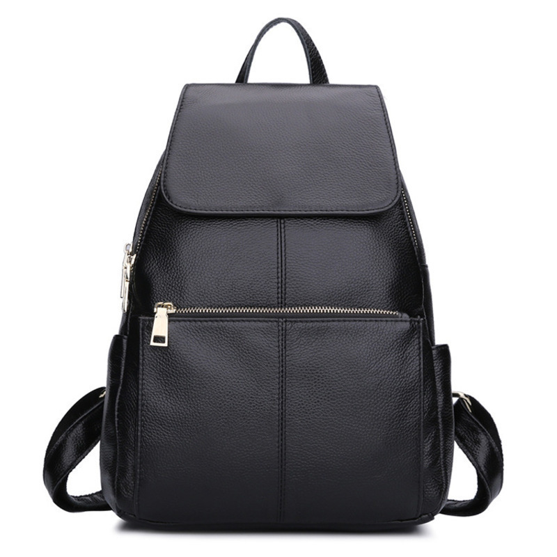 foreign trade head layer ladies Backpack Bag Black leather Backpack, wind agent the caves spider