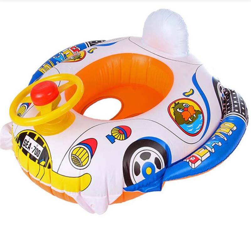 Infant Kids Inflatable Swimming Ring Toddler Seat Pool Fun Bathing Swim Trainer Toy Swim Pool Accessories