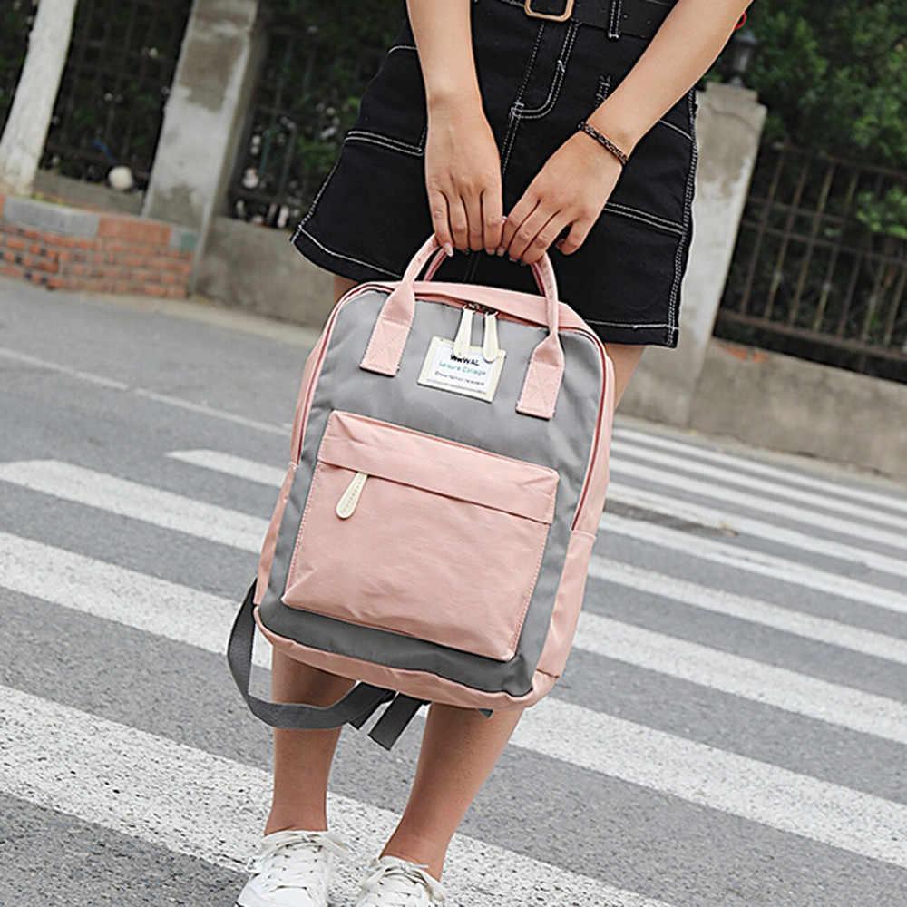 Carteras mujer y bolsos de hombro Estudantes mochilas 2019 Mulheres Da Moda Menina das mulheres Saco de Ombro Da Lona Saco de Escola