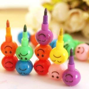1 шт., 7 цветов, художественные карандаши для детей, пастельный карандаш, набор для рисования, канцелярские принадлежности, мелки для смайлик...