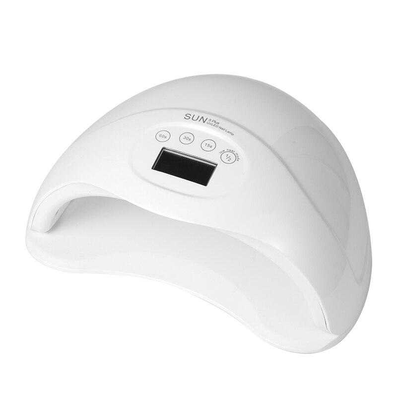 Sun5plus SUN5 Artı 48 W Çift UV LED Tırnak Lambası Tırnak Kurutucu jel Lehçe Kür Işık ile Alt 15 S/30 s/60 s Zamanlayıcı LCD ekran # S505
