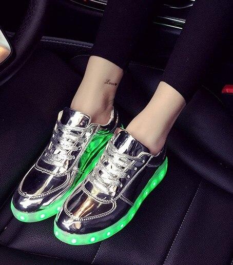 Usb Charging kid Shoes Glowing Sneakers doen met Light up meisjes - Kinderschoenen - Foto 2