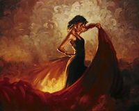 Large Canvas oil painting for Bedroom Spanish Flamenco Dancer Pop Art Gift Hand painted High quality