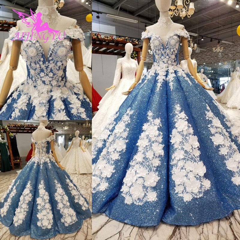 AIJINGYU Vintage robe étoiles de mariage robes indien pas cher Uk Vintage Boho femmes blanc Sexy indien robe Discount robes de mariée