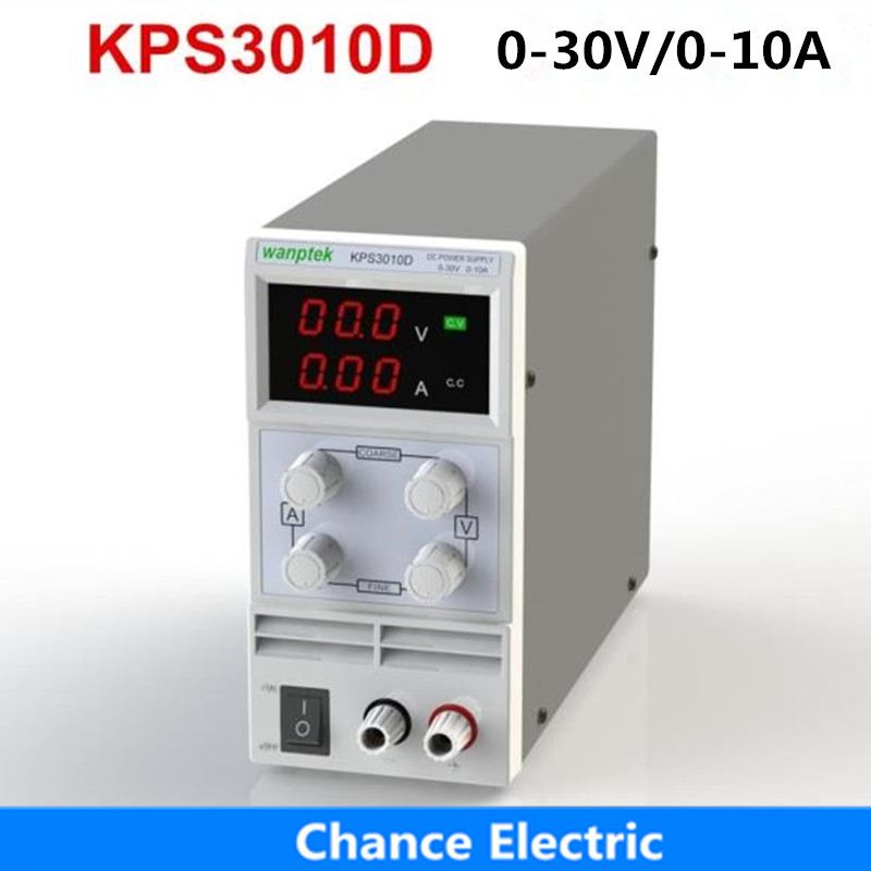 KPS3010D 30V 10A AC110V-220V Adjustable High Precision mini Protection Function Double Display Switching DC Power Supply 1200w wanptek kps3040d high precision adjustable display dc power supply 0 30v 0 40a high power switching power supply