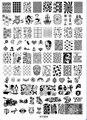 Nueva Moda de Acrílico Nail Art Stamping Stamping Plantilla Cráneo Águila BÚHO Pingüino Animal Nail Polish Estampación Placas XY-B04