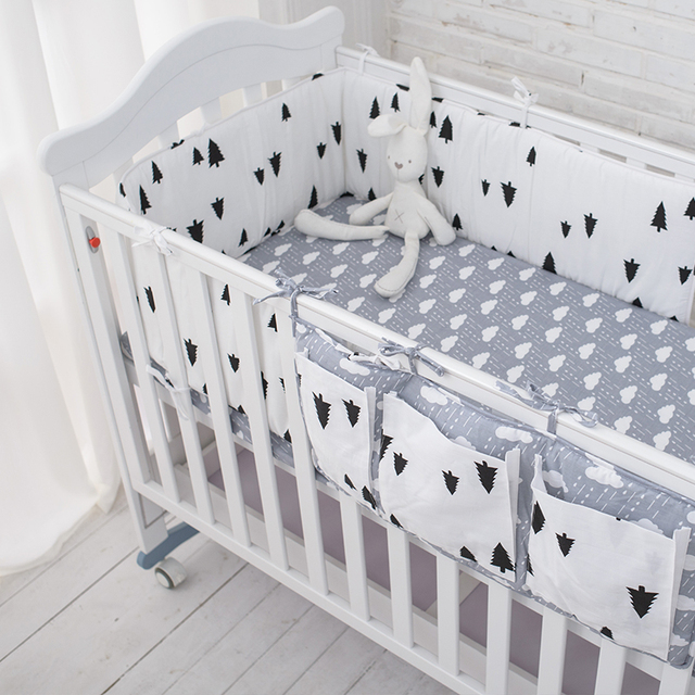 Tree Bedding Set,Multi-functional Baby Safe Sleeping Baby Bed Bumpers Set