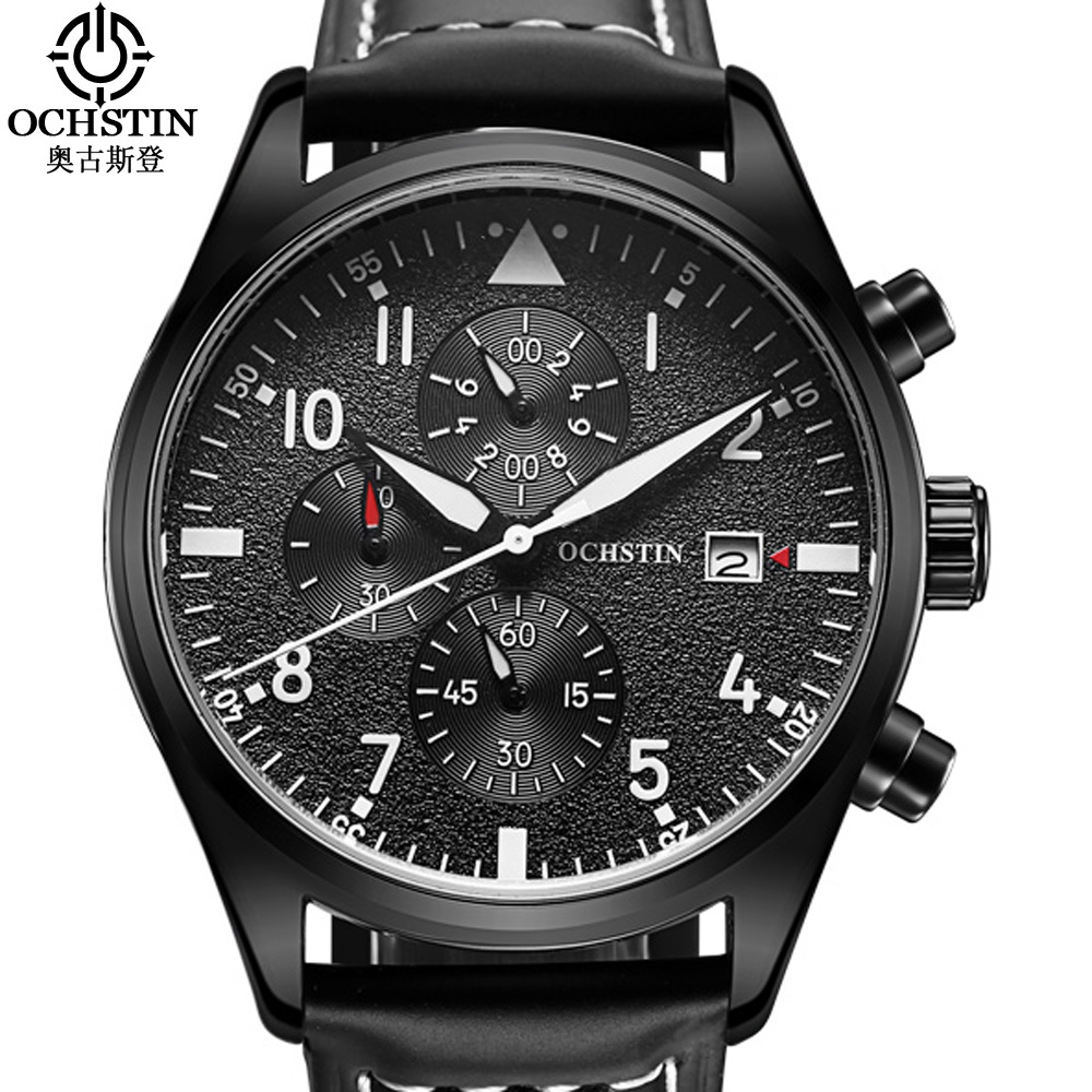Relogio Masculino 2017 OCHSTIN Watch Chronograph Men Watch Top Brand Luxury Sport Watches Men Clock Quartz Wrist Watch Male ochstin quartz chronograph sport watches men waterproof leather military wrist watch men clock male reloj relogio masculino