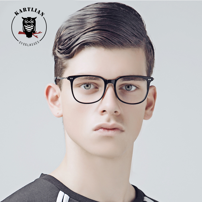 glasses men Kartlian square optical frame custom prescription glasses women clear lens eyewear lenses Acetate&alloy eyeglasses