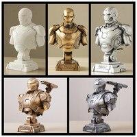 Iron Man Action Figure MK43 War Machine Bust Iron Man DIY Model Toys Legend 1/4 Scale Iron Man Figure Anime Figure Toys Boy Gift