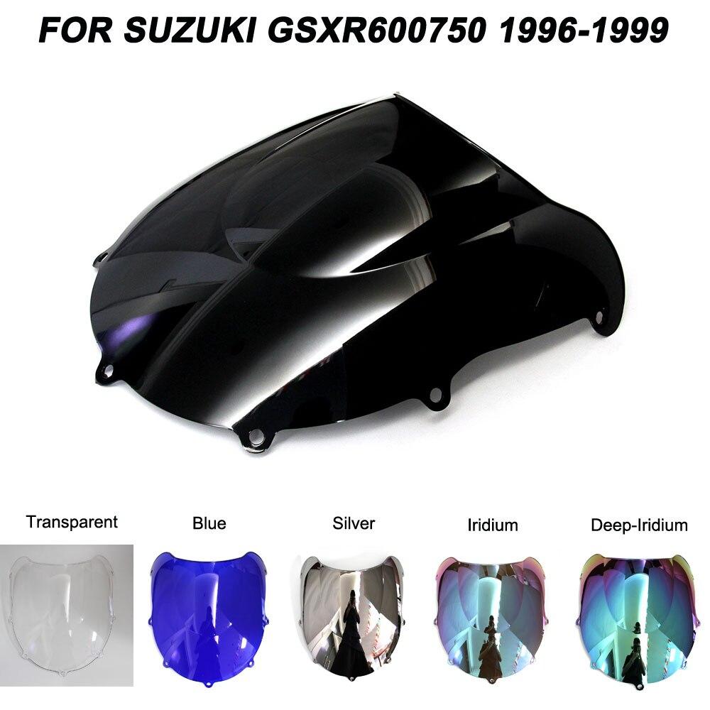 ABS Windscreen For Suzuki GSXR600 GSXR750 GSXR 600 750 1996 1997 1998 1999 Double Bubble Motorcycle Windshield Wind Deflectors in Windscreens Wind Deflectors from Automobiles Motorcycles