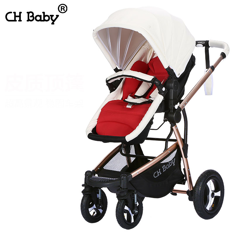Chbaby baby stroller baby stroller folding suspension bb handcars buggiest baby car with food pedal geometric shower curtain with 12pcs hook
