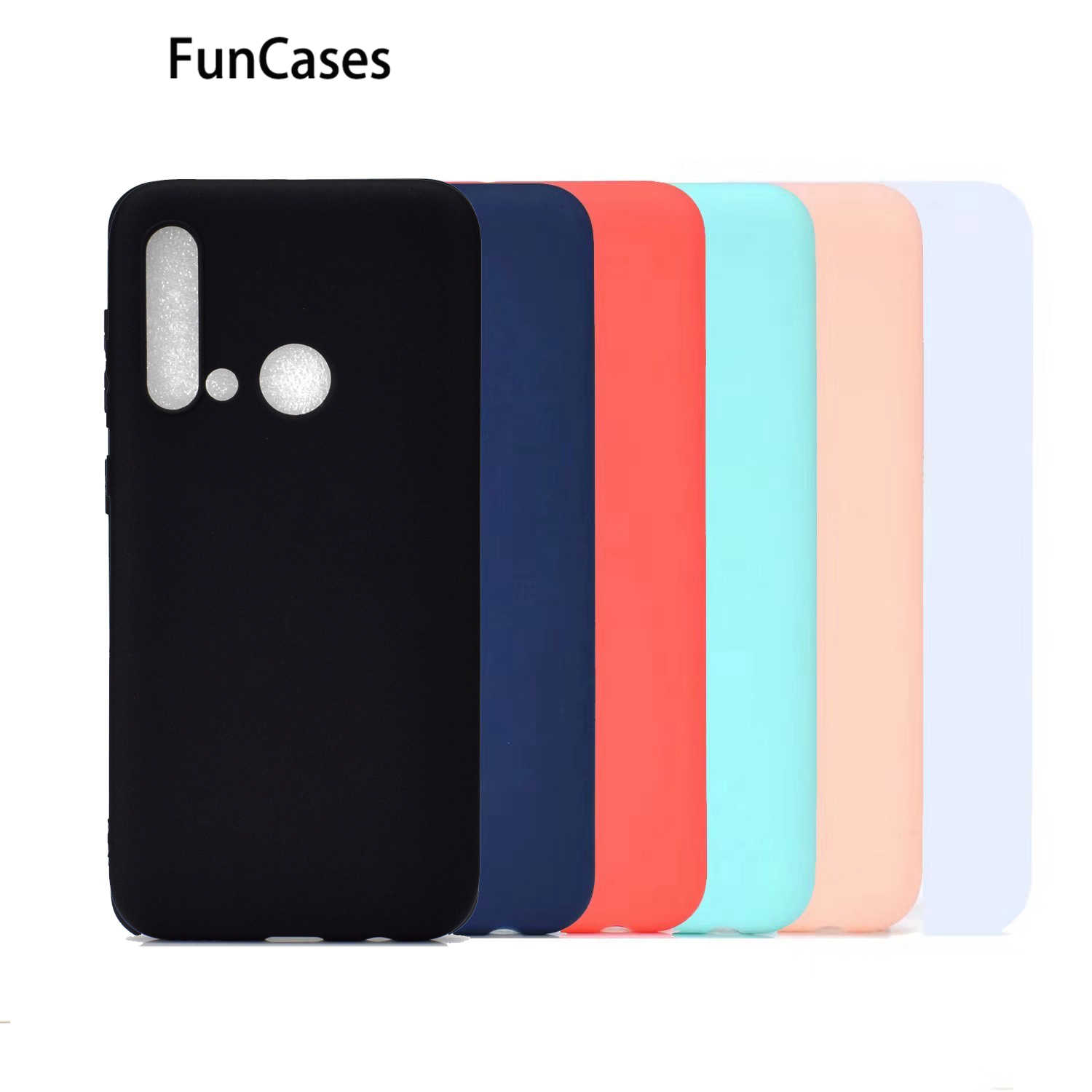 White Soft Silicone Cases For cover Huawei P8 Lite 2017 Cell Phone Cases Huawei Ascend capinha P10 Lite P20 2019 Pro P30 P8 P9
