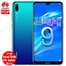 Küresel Rom Huawei 9 Huawei Y7 Pro 2019 cep telefonu 6.26 inç Snapdragon 450 Octa çekirdek yüz kilidini 4000mAh Android 8.1