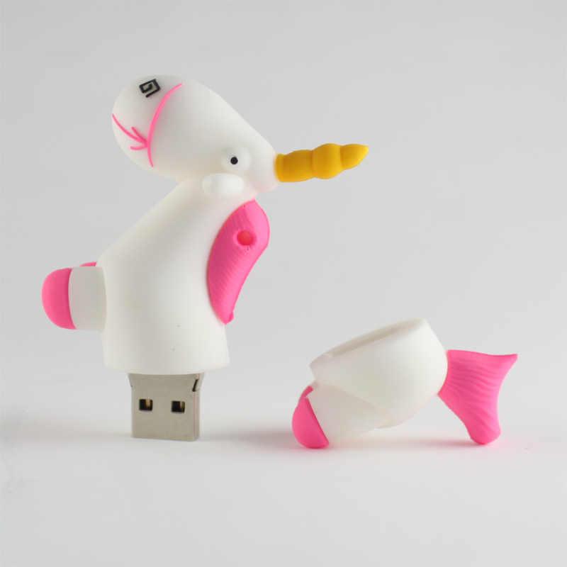 Unicórnio pendrive cartoo 4gb 8gb gb gb 64 32 16 GB usb flash drive pen drive assecla pen drive USB 2.0 cartão de memória flash presente pokerman ir