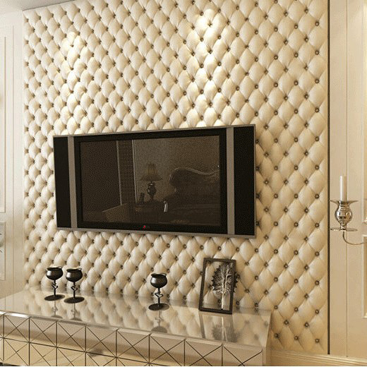 Modern 3D Wallpaper PVC Waterproof Roll Living Room Bedroom TV Background Embossed Papel De